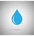 blue water drop icon vector image vector image