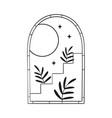 bohemian modern arch logo design moon stars
