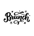brunch calligraphy logo badge vector image vector image