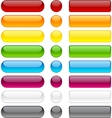 Bubble blank buttons vector