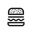 burger icon food vector image vector image