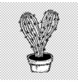 cactus heart free hugs vector image vector image