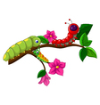 caterpillar cartoon collection vector image vector image