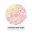 chinese new year circle concept vector image vector image