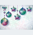 christmas background with ornaments and space for vector image vector image