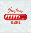 Christmas Loading bar on winter background vector image vector image