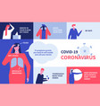 coronavirus recommendations - colorful flat design vector image vector image
