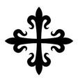 croix fleurdelisee vector image vector image