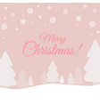 cute christmas background template for card banner vector image