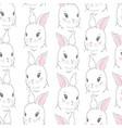cute rabbit face seamless wallpaper vector image vector image