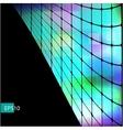 Dark abstract hi-tech green background vector image