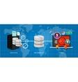 data business intelligence warehouse database vector image vector image