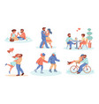 dating couple romantic boy and girl spend time vector image
