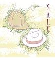 Decorative fashion mens hats vector image