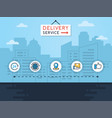 delivery concept vector image vector image