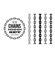 Different type of chains black and white