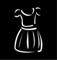 Drawing of a pinafore- apparel logo vector image