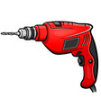 drill cartoon isolated design vector image vector image