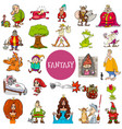 fantasy and fairy tale characters large set vector image