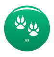 fox step icon green vector image