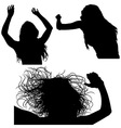 Girl Silhouette Set vector image vector image