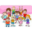 happy children cartoon characters group vector image vector image