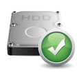 hard disk drive vector image vector image