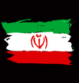 Iran grunge flag vector image vector image