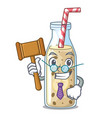 judge sweet banana smoothie isolated on mascot vector image vector image