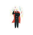 magician artist entertainment performance show vector image