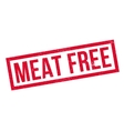 Meat Free rubber stamp vector image vector image