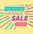 modern template for garage or yard sale event vector image