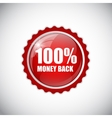 Money Back Golden Label vector image