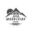 mountain logo premium quality vintage black and vector image vector image