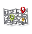 navigation map vector image vector image