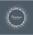 new year 2019 card background snow cristmas frame vector image vector image