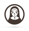 nun icon cartoon graphic vector image