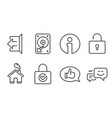 password encryption lock and feedback icons hdd vector image vector image