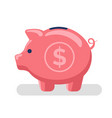 piggy with dollar sign object for money storage vector image