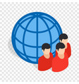 planet and people isometric icon vector image vector image