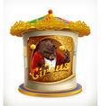 poster circus funny animals icon mesh vector image vector image