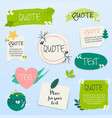 quote blank template creative quote text template vector image