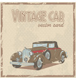 Retro 50s car stylish vintage postcard vector image
