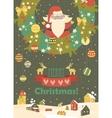 santa claus celebrating christmas vector image vector image