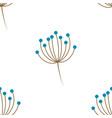 scandinavian floral pattern vector image vector image