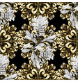 seamless pattern on black white and beige colors vector image