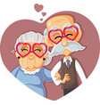 senior couple celebrating long lasting love vector image