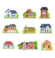 set of house flat icons vector image vector image
