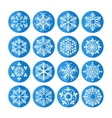 set snowflakes icons vector image vector image
