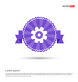 setting icon - purple ribbon banner vector image